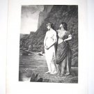 """The Belle of Scio"" by Jean Benner Antique Gravure from 1880's"