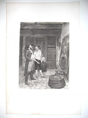 """The sign Painter"" By Meissonier , Gravure fron the 1880's"