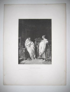 "'The Two Argurs"" by J.L.Gerome Authentic 1880's Gravure"