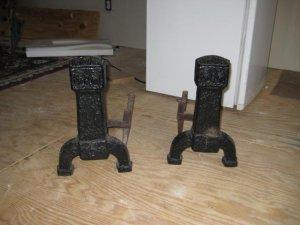 Pair Of Craftsman Era Andirons