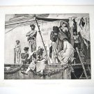 'The Slave Market,Ancient Rome, By Boulanger. Gravure 1880's