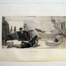 "'Reading Homer"" by L. ALMA-TADEMA. Rare Gravure from 1880's"