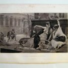 'Cleopatra experimenting with poision' by A Cabanel, Gravure 1880's
