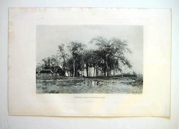 'A Wooded Farm at Van der Sande', by A. Stengelin, 1880's