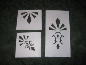 Historic Victorian Stencil Set : Knox Hill Cottage Medallion/Wall set
