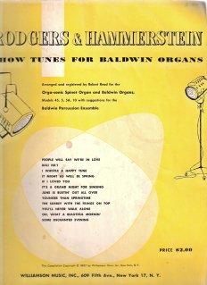 Rodgers & Hammerstein Show Tunes for Baldwin Organs