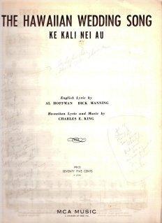 The Hawaiian Wedding Song: Ke Kali Nei Au