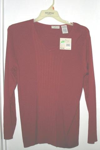White Stag Long-Sleeve V-Neck Sweater