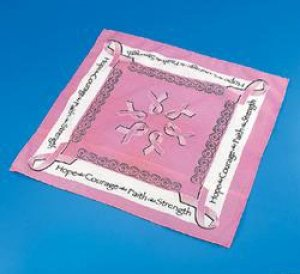 Pink Ribbon Breast Cancer Awareness Bandanna