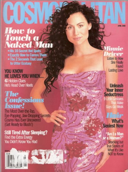 Cosmopolitan Magazine April 2000 Minnie Driver