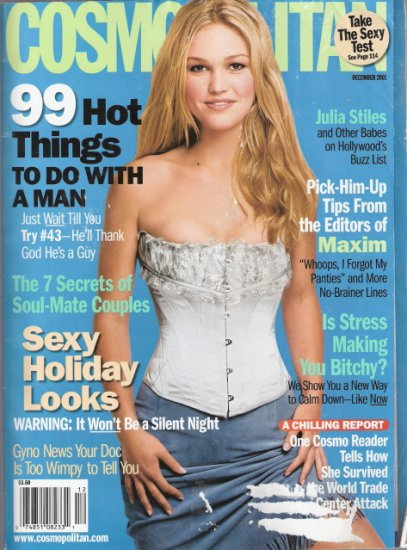 Cosmopolitan Magazine December 2001 Julia Stiles