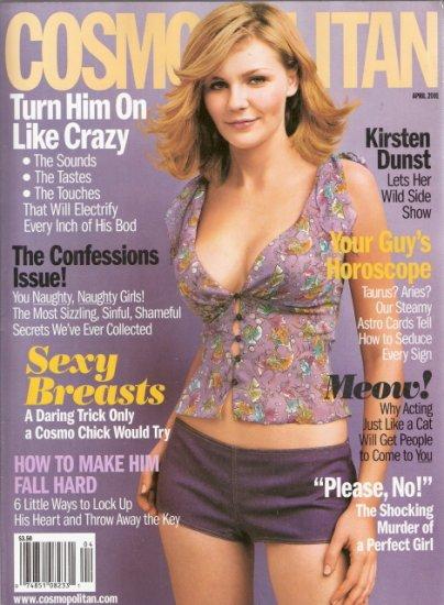 Cosmopolitan Magazine April 2001 Kirsten Dunst