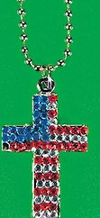 USA Gemstone Cross Necklace