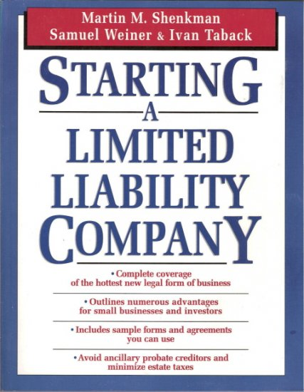Starting A Limited Liability Company 0471133655