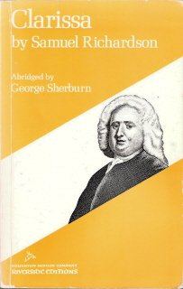 Clarissa by Samuel Richardson Abridged by George Sherburn 0395051649