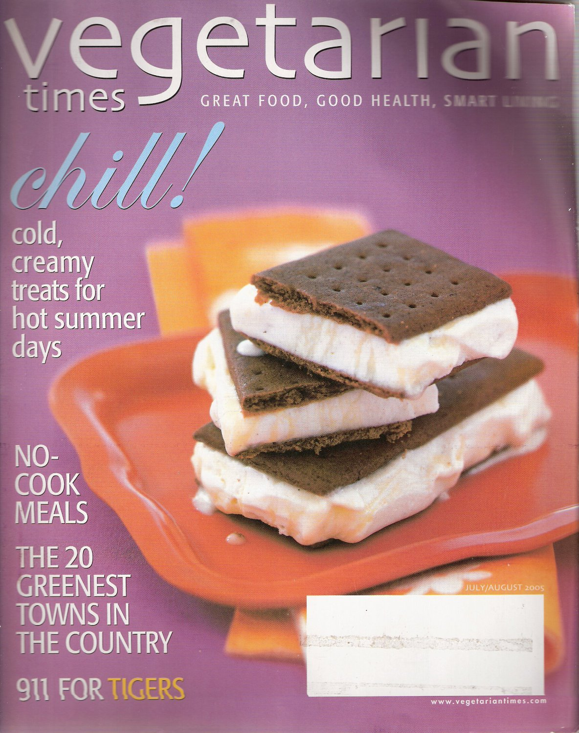 Vegetarian Times Magazine July/August 2005 Cold, Creamy Treats