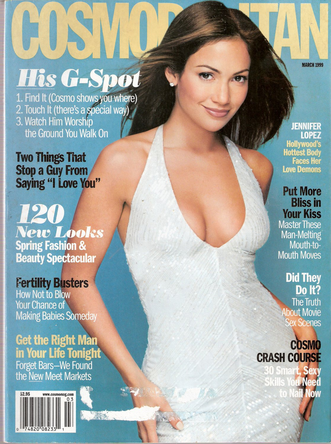Cosmopolitan Magazine March 1999 Jennifer Lopez