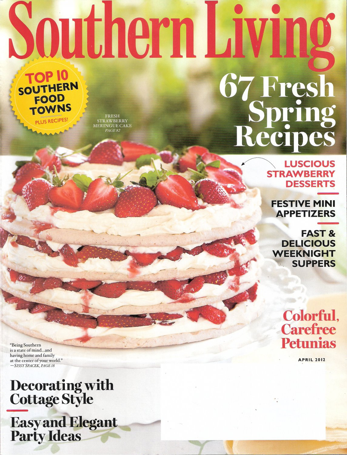 Southern Living Magazine April 2012 67 Fresh Spring Recipes