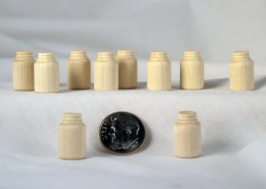 Small Miniature Mason Jar Wood Turnings