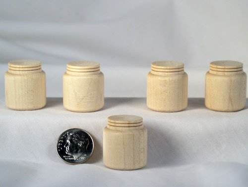 Large Miniature Mason Jar Wood Turnings