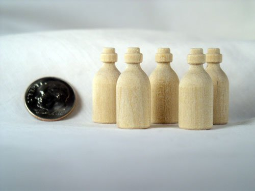 Miniature Medicine Bottle Wood Turnings