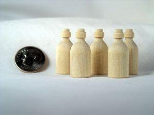 Miniature Medicine Bottle Wood Turnings