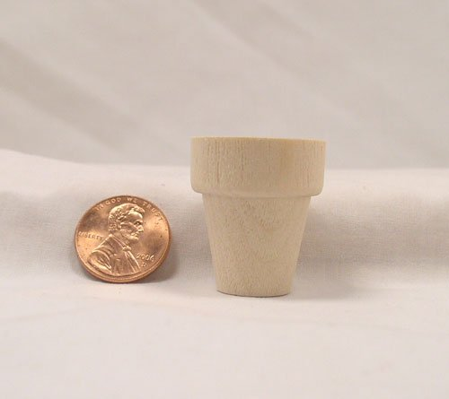 "Mini 1 1/8"" Planter Pots wood turnings"