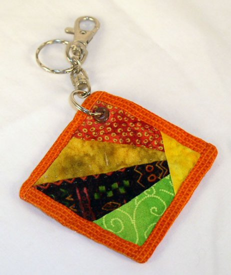 Sunburst Quilt Block Key Chain