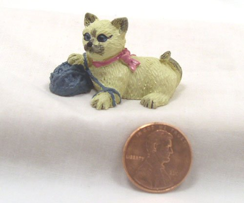 Siamese Kitten 1:12 Dollhouse