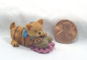 Tabby Kitten 1:12 Dollhouse Miniature