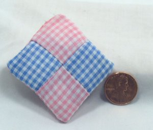 Patchwork Pillow 1:12 Dollhouse Miniature