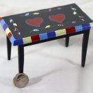 Country Heart Side Table 1:12 Dollhouse Miniature
