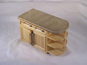 Oak Bistro Cabinet 1:12 Dollhouse Miniature