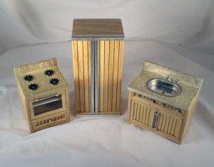 Oak Bistro Kitchen 1:12 Miniature Dollhouse