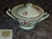 Norcrest Chelsea Rose Sugar Dish ( Bowl ) with Lid