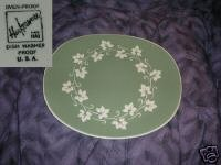 Harkerware Ivy Wreath Oval Serving Platter