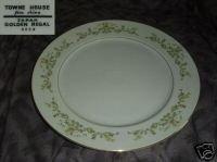 Towne House Golden Regal 1 Chop Plate Round Platter