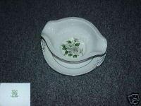 Japan China White Rose ( Platinum ) 1 Gravy Boat