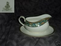 Royal Doulton Tudor Grove 1 Gravy Boat with Underplate