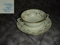 Lamberton Reverie 4 Cream Soup Cup and Saucer Sets