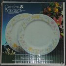 Excel Garden Bouquet 2 Luncheon Plates New