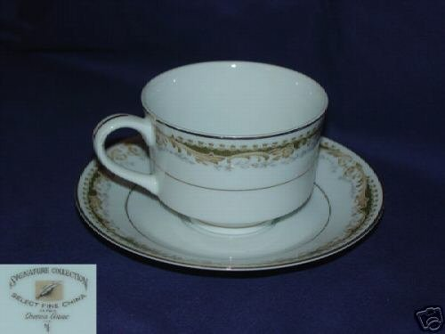 Signature Select China Japan Queen Anne 4 Cup / Saucers