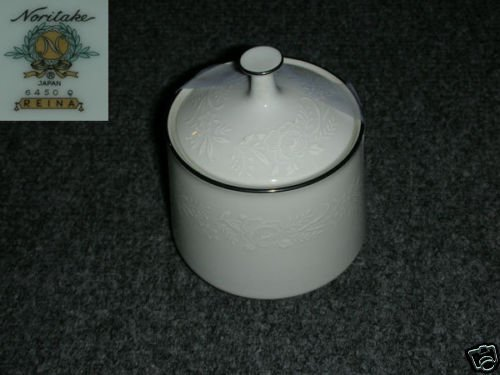 Noritake Reina 1 Sugar Dish ( Bowl ) with Lid