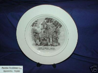 Salem Lutheran Church Plate, Lamertine, Pennsylvania
