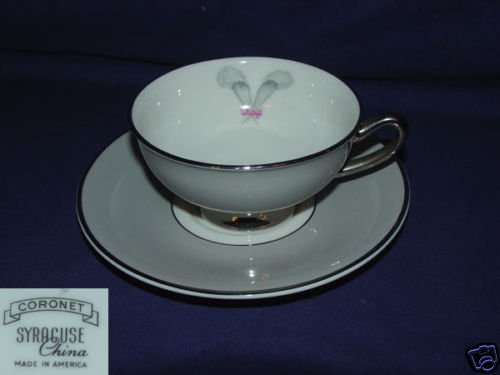 Syracuse Coronet 4 Cup and Saucer Sets
