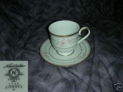 Noritake Jenna 4 Cup and Saucer Sets