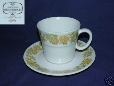 Noritake Sunny Side 4 Cup and Saucer Sets
