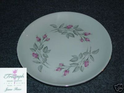 Homer Laughlin Triumph June Rose 4 Dinner Plates