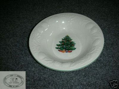 GEI Christmas Tree Pattern 4 Cereal or Soup Bowls