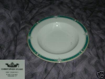 Christopher Stuart Somerset 8 Rimmed Soup Bowls